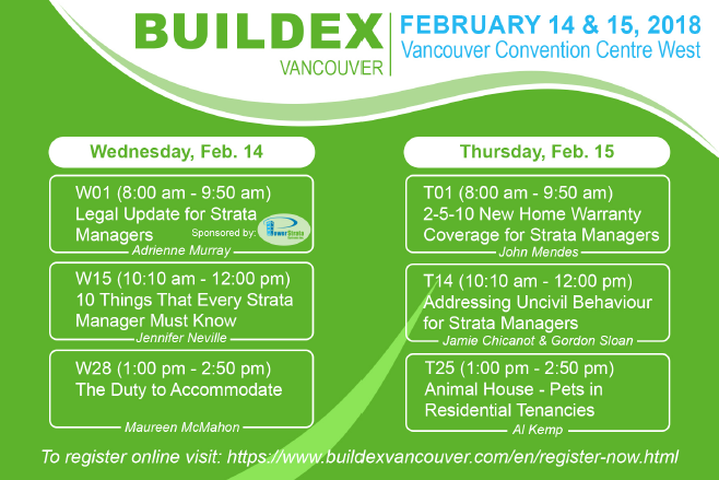 "Power Strata Systems at Buildex Vancouver - Sponsoring PAMA Session ""Legal Updates for Strata Managers by Adrienne Murray"""